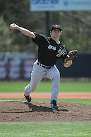 University of Cincinnati Bearcats pitcher Matt Ring (21) during a game against the Rutgers University Scarlet Knights at Bainton Field on April 19, 2014 in Piscataway, New Jersey. Rutgers defeated Cincinnati 4-1.  (Tomasso DeRosa/ Four Seam Images)