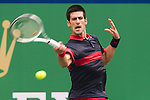 SHANGHAI, CHINA - OCTOBER 15:  Novak Djokovic of Serbia returns a ball to Guillermo Garcia-Lopez of Spain during day five of the 2010 Shanghai Rolex Masters at the Shanghai Qi Zhong Tennis Center on October 15, 2010 in Shanghai, China.  (Photo by Victor Fraile/The Power of Sport Images) *** Local Caption *** Novak Djokovic