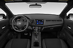 Stock photo of straight dashboard view of a 2019 Honda HR-V Sport 5 Door SUV