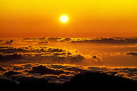 Sunrise from the summit of Haleakala Crater on Maui