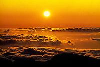 Sunrise from the summit of Haleakala Crater on Maui