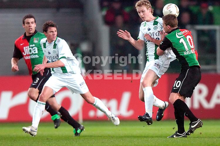 fc groningen - nec eredivisie seizoen 2007-2008 23-01-2008.stefan nijland en mark jan fledderus.fotograaf Jan Kanning *** Local Caption ***