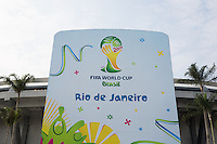 The front of the Maracana stadium