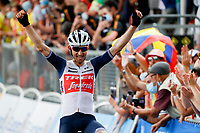 10th July 2021; Carcassonne, France; MOLLEMA Bauke (NED) of TREK - SEGAFREDO wins stage 14 of the 108th edition of the 2021 Tour de France cycling race, a stage of 183,7 kms between Carcassonne and Quillan