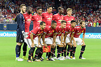Houston, TX - Thursday July 20, 2017: Manchester United Starting XI during a match between Manchester United and Manchester City in the 2017 International Champions Cup at NRG Stadium.