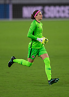 ORLANDO CITY, FL - FEBRUARY 18: Stephanie Labbé #1 enters the game during a game between Canada and USWNT at Exploria stadium on February 18, 2021 in Orlando City, Florida.