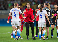 Belo Horizonte, Brazil - August 6, 2016:  The USWNT defeated France 1-0 during the group stage of the 2016 Olympic games at Mineirao Stadium.