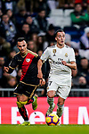 Lucas Vazquez of Real Madrid (R) is followed by Alvaro Garcia Rivera of Rayo Vallecano during the La Liga 2018-19 match between Real Madrid and Rayo Vallencano at Estadio Santiago Bernabeu on December 15 2018 in Madrid, Spain. Photo by Diego Souto / Power Sport Images