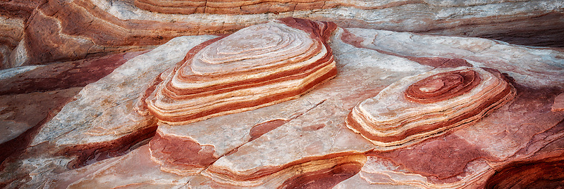 Sandstone formations at the Firewave. Valley of Fire State Park, Nevada