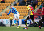 St Johnstone v Partick Thistle…11.02.17     Scottish Cup    McDiarmid Park<br />David Wotherspoon and Adam Barton<br />Picture by Graeme Hart.<br />Copyright Perthshire Picture Agency<br />Tel: 01738 623350  Mobile: 07990 594431
