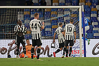 11th September 2021; Maradona Stadium, Naples, Italy; Serie A football, SSC Napoli versus Juventus  FC: Mario Rui of Napoli shoots and scores his goal for 2-1 in the 85th minute