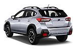 Car pictures of rear three quarter view of 2021 Subaru Crosstrek - 5 Door SUV Angular Rear