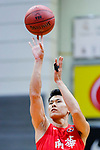 Wong Tak Man #17 of SCAA Men's Basketball Team concentrates prior to a free throw during the Hong Kong Basketball League game between Tycoon and SCAA at Southorn Stadium on May 23, 2018 in Hong Kong. Photo by Yu Chun Christopher Wong / Power Sport Images