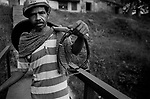 A coal miner going back home after his shift of work, Ranigaunj, West Bengal, India. Arindam Mukherjee