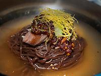 kalte Nudeln, Pyongyang, Nordkorea, Asien<br /> cold noodle dish, Pyonyang, North Korea, Asia