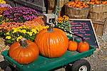 Autumn at Lull's farmstand in Hollis, NH, USA