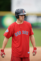 Salem Red Sox Mike Meyers (22) during practice before the first game of a doubleheader against the Potomac Nationals on May 13, 2017 at G. Richard Pfitzner Stadium in Woodbridge, Virginia.  Potomac defeated Salem 6-0.  (Mike Janes/Four Seam Images)