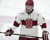 Lewis Zerter-Gossage (Harvard - 77) - The visiting Colgate University Raiders shut out the Harvard University Crimson for a 2-0 win on Saturday, January 27, 2018, at Bright-Landry Hockey Center in Boston, Massachusetts.