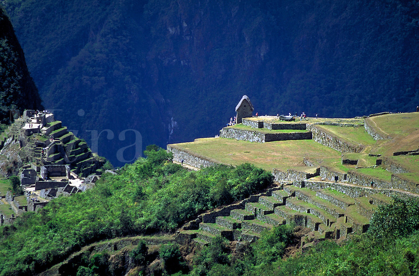 South America ; travel ; Inca ; ruins ; tourist ;. Machu Picchu, Peru.
