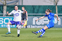 Emma Van Britsom (6) of AA Gent pictured during a female soccer game between  AA Gent Ladies and RSC Anderlecht on the 17th matchday of the 2020 - 2021 season of Belgian Scooore Womens Super League , saturday 20 th of March 2021 in Oostakker , Belgium . PHOTO SPORTPIX.BE | SPP | STIJN AUDOOREN