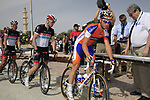 Rabobank Cycling Team rider Mark Renshaw (AUS) signs on before the start of the 3rd Stage of the 2012 Tour of Qatar running 146.5km from Dukhan Souq, Dukhan to Al Gharafa, Qatar. 7th February 2012.<br /> (Photo Eoin Clarke/Newsfile)