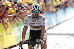 World Champion Julian Alaphilippe (FRA) Deceuninck-Quick Step crosses the finish line at the end of Stage 15 of the 2021 Tour de France, running 191.3km from Céret to Andorre-La-Vieille, Andorra. 11th July 2021.  <br /> Picture: Colin Flockton | Cyclefile<br /> <br /> All photos usage must carry mandatory copyright credit (© Cyclefile | Colin Flockton)