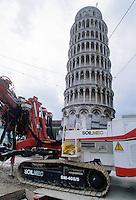 - works of consolidation of the foundations for the rescue of the Tower of Pisa ....- lavori di consolidamento delle fondamenta per il salvataggio della Torre di Pisa