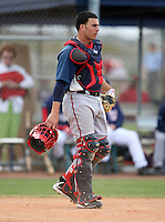 March 22, 2010:  Catcher Adrian Nieto of the Washington Nationals organization during Spring Training at the Carl Barger Training Complex in Melbourne, FL.  Photo By Mike Janes/Four Seam Images