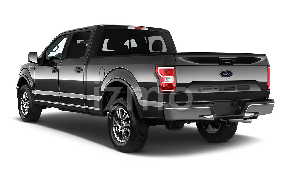 Car pictures of rear three quarter view of 2020 Ford F-150 Lariat 4 Door Pick-up Angular Rear
