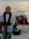 Pictured:  Natasha Lambert and her dad Gary.<br /> <br /> A young woman with cerebral palsy has sailed 3,000 miles across the Atlantic ocean in just 18 days - using only her mouth and tongue to control the boat.<br /> <br /> Natasha Lambert, 23, used the 'sip and puff' system engineered by her electrician father to sail from Gran Canaria on the Western coast of Africa to St Lucia in the Caribbean.<br /> <br /> The trip, which hoped to raise £30,000 for three charities, took 18 days, 24 hours, 29 minutes and eight seconds to complete.   SEE OUR COPY FOR DETAILS.<br /> <br /> © Solent News & Photo Agency<br /> UK +44 (0) 2380 458800