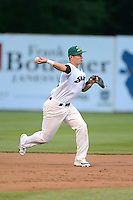 Beloit Snappers shortstop Daniel Robertson #18 during a game against the Cedar Rapids Kernels on May 22, 2013 at Pohlman Field in Beloit, Wisconsin.  Beloit defeated Cedar Rapids 7-6.  (Mike Janes/Four Seam Images)