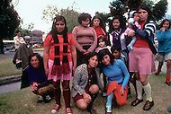 Prostitutes in Colombia (Girl in front in blue sweater and Child labor as seen around the world between 1979 and 1980 - Photographer Jean Pierre Laffont, touched by the suffering of child workers, chronicled their plight in 12 countries over the course of one year.  Laffont was awarded The World Press Award and Madeline Ross Award among many others for his work.