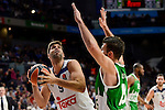 Real Madrid's player Felipe Reyes and Unics Kazan's player Marko Basic during match of Turkish Airlines Euroleague at Barclaycard Center in Madrid. November 24, Spain. 2016. (ALTERPHOTOS/BorjaB.Hojas)