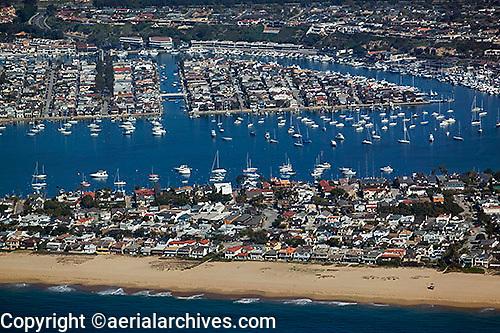 aerial photograph of Newport Beach, Orange County, California