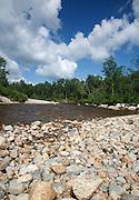 Ammonoosuc River in Carroll, New Hampshire USA