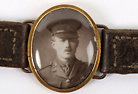 BNPS.co.uk (01202 558833)<br /> Pic: C&T Auctioneers/BNPS<br /> <br /> PICTURED: The book of his letters is being sold alongside a watchstrap containing Lt Shoosmith's photo his mother wore in his memory<br /> <br /> A poignant letter penned by a tragic British officer to his mother 'in the event of his death' weeks before he was killed on the battlefield has been unearthed 106 years on.<br /> <br /> Lieutenant Frank Stuart Shoosmith, of the 5th Battalion, Bedfordshire Regiment, kept her abreast of the disastrous Gallipoli campaign in 1915.<br /> <br /> He does not hide the horrors he witnessed as casualty numbers spiralled on the Allied side into the hundreds of thousands.<br /> <br /> In one heartbreaking passage, he tells his mother to 'take care' of his partner Ivy and 'help her to forget me'. Not long after, he was shot through the head while moving along the trench and killed on the spot.<br /> <br /> The book of his letters is being sold alongside a watchstrap containing Lt Shoosmith's photo his mother wore in his memory with C & T Auctions, of Ashford, Kent.