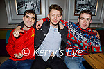 Sean O'Mahoney, Wayne Costello and Kieran Lyons enjoying the evening in the Fiddler on Saturday.