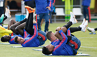 KAZAN - RUSIA, 15-06-2018: Santiago Arias y Johan Mojica jugadores de Colombia, durante entrenamiento como parte de la Copa Mundo FIFA 2018 Rusia. /  Santiago Arias amd Johan Mojica players of Colombia during training session in Kazan  as part of the 2018 FIFA World Cup Russia. Photo: VizzorImage / Julian Medina / Cont