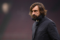 Andrea Pirlo coach of Juventus FC looks on during the Serie A football match between AC Milan and Juventus FC at San Siro Stadium in Milano  (Italy), January 6th, 2021. Photo Federico Tardito / Insidefoto