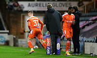 Blackpool's Ben Woodburn replaces Blackpool's Sullay Kaikai as a substitute<br /> <br /> Photographer Chris Vaughan/CameraSport<br /> <br /> The EFL Sky Bet League One - Peterborough United v Blackpool - Saturday 21st November 2020 - London Road Stadium - Peterborough<br /> <br /> World Copyright © 2020 CameraSport. All rights reserved. 43 Linden Ave. Countesthorpe. Leicester. England. LE8 5PG - Tel: +44 (0) 116 277 4147 - admin@camerasport.com - www.camerasport.com