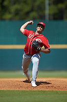 Starting pitcher Chase Burns (52) of Beech HS in Gallatin, TN playing for the Cincinnati Reds scout team during the East Coast Pro Showcase at the Hoover Met Complex on August 4, 2020 in Hoover, AL. (Brian Westerholt/Four Seam Images)