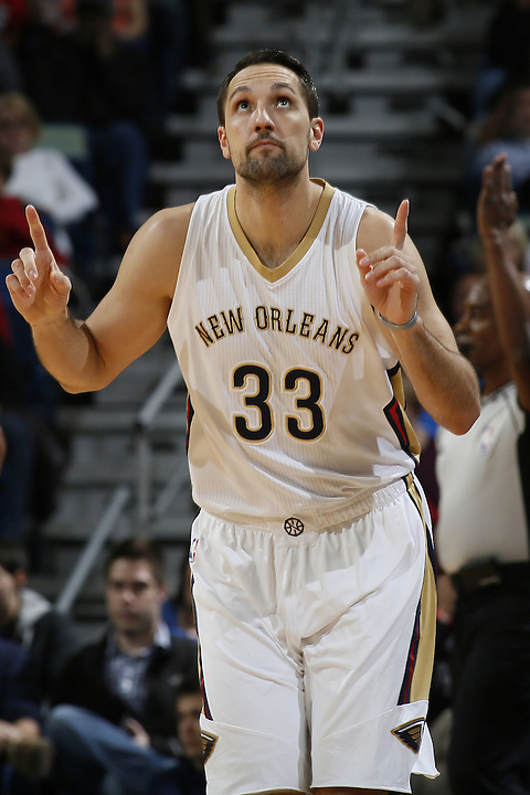 NEW ORLEANS, LA - JANUARY 15:  during an NBA game on January 15, 2016 at the Smoothie King Center in New Orleans, Louisiana. NOTE TO USER: User expressly acknowledges and agrees that, by downloading and or using this Photograph, user is consenting to the terms and conditions of the Getty Images License Agreement. Mandatory Copyright Notice: Copyright 2015 NBAE (Photo by Jonathan Bachman/NBAE via Getty Images)
