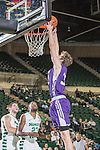 Stephen F. Austin Lumberjacks forward Tanner Clayton (30) in action during the game between the Stephen F. Austin Lumberjacks and the North Texas Mean Green at the Super Pit arena in Denton, Texas. SFA defeats UNT 87 to 53.