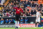Romelu Lukaku of Manchester United gestures during the UEFA Champions League 2018-19 match between Valencia CF and Manchester United at Estadio de Mestalla on December 12 2018 in Valencia, Spain. Photo by Maria Jose Segovia Carmona / Power Sport Images