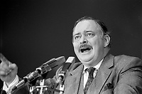 Jacques Parizeau<br /> speech on election night, April 13, 1981.<br /> <br /> The PQ  got elected for a second term
