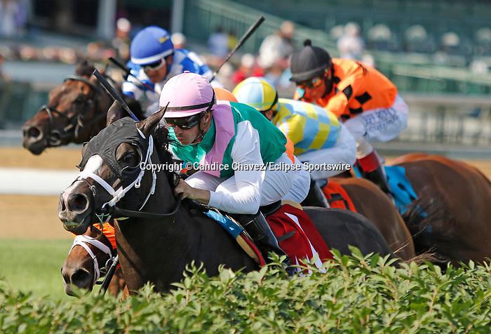 June 26,, 2021: Set Piece (GB) #1, ridden by jockey Florent Geroux, wins the Wise Dan Stakes (Grade 2) on the turf at Churchill Downs.  Louisville, KY on June 26, 2021.  Candice Chavez/ESW/CSM