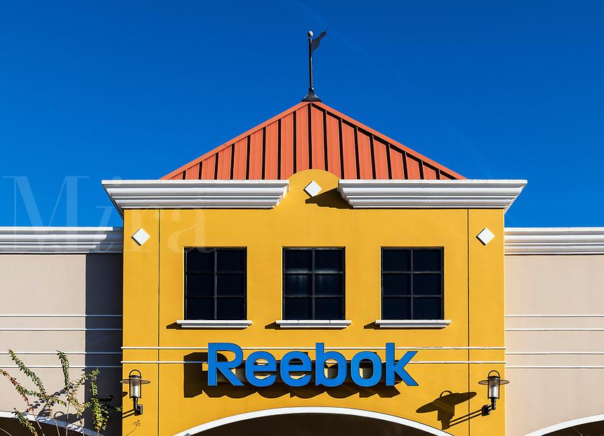 Reebok factory outlet store, Orlando, Florida, USA.