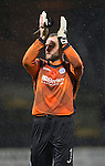 Dundee v St Johnstone....08.11.14   SPFL<br /> Alan Mannus appluads the fans at full time after putting in another top performance<br /> Picture by Graeme Hart.<br /> Copyright Perthshire Picture Agency<br /> Tel: 01738 623350  Mobile: 07990 594431