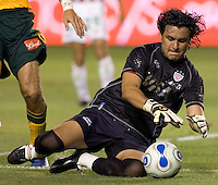 Necaxa GK Alexandro Alvarez during the Necaxa defeat of the LA Galaxy 1-0 in an International friendly match at The Home Depot Center in Carson, California, Wednesday July 12, 2006.