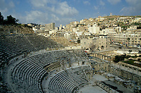 Ancient Roman amphitheatre in Amman, Jordan.
